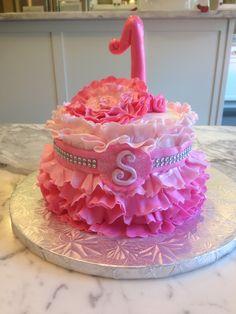 Stephanias  ruffle birthday cake
