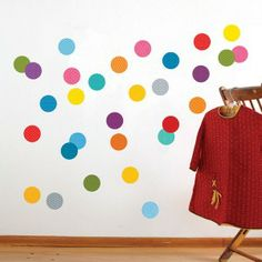 Confetti wall decals - removable and reusable.  Love it!
