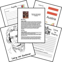 Learning about Beethoven is fun with this FREE Beethoven Lives Upstairs unit study!