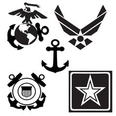 free svg marine corps logo for cricut - Yahoo Image Search Results Cricut Vinyl, Vinyl Decals, Car Decals, Military Crafts, Teaching Humor, Military Drawings, Military Branches, Math Humor, Silhouette Projects