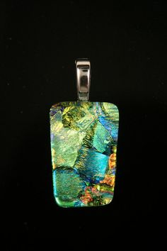 love this pendant from @Larry Budwig ~ on etsy! ~ http://www.etsy.com/listing/90568347/beautiful-dichroic-glass-pendant