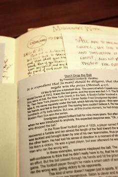 Scripture Journal Tip:  Use the Ensign