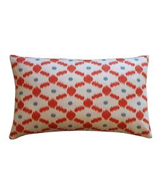Take a look at this Orange Fence Rectangle Pillow by Jiti on #zulily today!