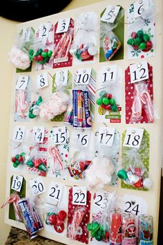 Advent candy, maybe next year I'll make one of these and scrap the cheap little cardboard and chocolate countdown.