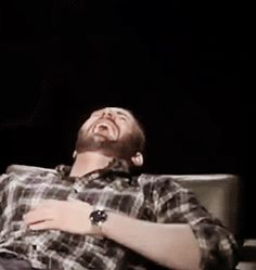I have no idea what's so funny.  But, just watching Chris laugh like this makes me laugh.  Love it ! A.N
