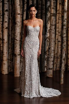 Gown by Naeem Khan #weddingdresses #silver