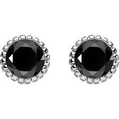 Thomas Sabo Glam & soul black stone sterling silver ear studs ($57) ❤ liked on Polyvore featuring jewelry, earrings, sterling silver jewellery, butterfly earrings, sparkly earrings, artificial earrings and stone stud earrings