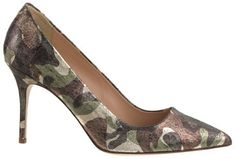 Elsie metallic camo pumps.. Paired with boyfriend jeans