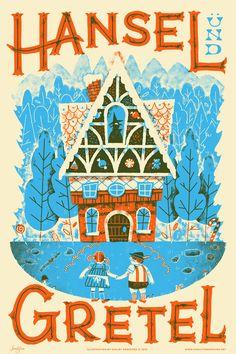 Hansel and Gretel Fairy Tales print / Familytree Design