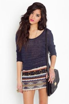 let's get oversized sweaters and make them inappropriately short skirts :)