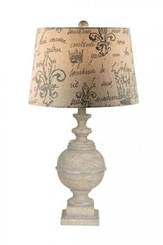 The lamp has a fleur-de-lis, which will tie the writing area with the rest of the room!  #HomeDecorators
