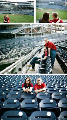 Love!! ------> baseball engagement session by Erin Lassahn Photography