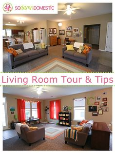 Living room tour & Tips and ideas for staying organized, even with kids.