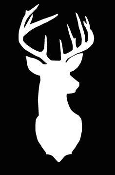 Deer Cameo Silhouette File by LivinOnSunnyside on Etsy Silhouette Cameo, Deer Silhouette Printable, Hirsch Silhouette, Deer Head Silhouette, Silhouette Files, Deer Stencil, Stencil Art, Rooster Stencil, Horse Stencil
