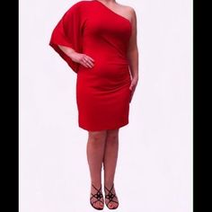 "Selling this ""Michael Kors Dress, One-Shoulder Batwing Sleeve"" in my Poshmark closet! My username is: megavybor. #shopmycloset #poshmark #fashion #shopping #style #forsale #Michael Kors #Dresses"