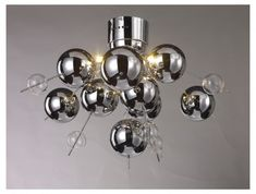 Chrome bauble light fitting, very space age and modern £129.99