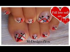 Toe Nail Designs Red White And Blue Unique - 58 incredible red toe nail art design ideas for trendy girls White Toenails, White Pedicure, Black Toe Nails, Pedicure Nail Art, Toe Nail Art, Black Nail, Nail Nail, Toenail Art Designs, Red Nail Designs