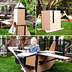 Con la fantasia si vola lontano!!  E con la creatività si costruiscono giochi spaziali!! #babyjoggeritalia