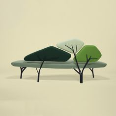 Sofa inspired by pine trees #designeveryday