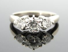 LOVE LOVE LOVE!!!! Contemporary Three Stone Diamond Engagement Ring in by MSJewelers, $1945.00