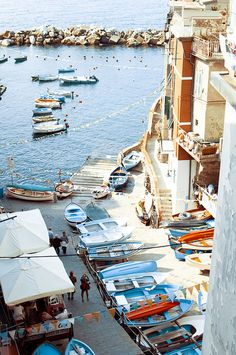 Capri is an island in the South of Italy. Riomaggiore is a little village in the North.