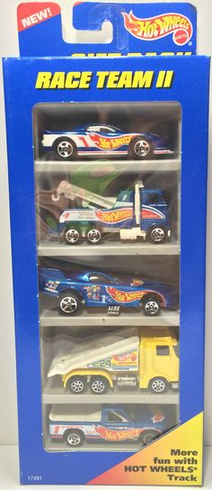 1996 Mattel Hot Wheels Die-Cast Cars - Race Team II Set This item is NOT in Mint Condition and is in no way being described as Mint or even Near Mint. Our toys have not always lead the perfect life, n