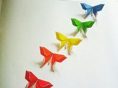 Origami Swallowtail Butterflies in a set of 5 by exoticfolds on Etsy, USD$5.99.