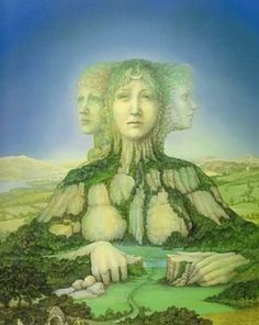 Banba is the Celtic Goddess of the spirit of Ireland. She is one of the Tuatha de Danaan, a tripple aspect, 3 sisters.