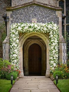 Revealed: Michelle Keegan and Mark Wright's all-white wedding flowers All White Wedding, Star Wedding, White Wedding Flowers, Green Wedding, Wedding Church, Church Ceremony, Wedding Bells, Michelle Keegan Wedding, Wedding Ceremony Flowers