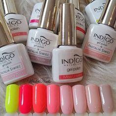 Nail Manicure, Gel Nail Polish, Gel Nails, Indigo Nails, Strawberry Milk, Neon Yellow, Nail Colors, Nail Designs, Nail Art