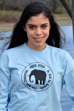 Proud Vegan Unisex Long Sleave T-Shirt by Grape Cat