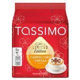 Tassimo Limited Edition Cappuccino Vanilla Café Capsule de Café Café Torréfié Moulu 16 T-Discs