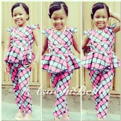 African Print outfit for little girls