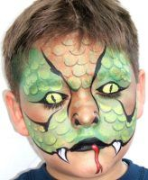 Snake face painting design - By Mark Reid