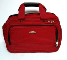 Ricardo Beverly Hills Carry On Travel Bag Luggage Overnight Red Case Laptop  #RicardoBeverlyHills
