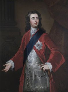 1724, Charles (1701–1750), 2nd Duke of Richmond and Lennox, became a Freemason in 1724 and was made Grand Master of the Grand Lodge of England, one of two governing bodies of Freemasonry in England in the eighteenth and early nineteenth century, in the same year. In this portrait he is wearing the sash and breast star for a Knight of the Order of the Garter (KG), the highest chivalric order in the United Kingdom.
