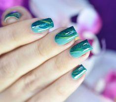Nail art Vert Printemps