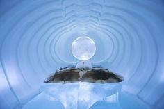 """ICEHOTEL """"Location: Jukkasjärvi, Sweden"""" """"Artists: William Blomstrand & Andrew Winch"""" 2013"""