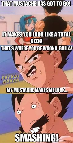 Vegeta and his Mustache - funny pictures - funny photos - funny images - funny pics - funny quotes - funny animals @ humor