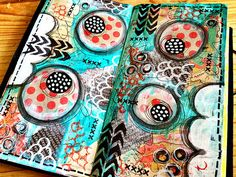 Been working on some pages in my midori art journal !   Flickr - Photo Sharing!