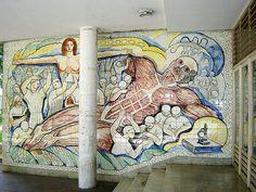 Mural de Francisco Narvaez  Instituto Anatómico Facultad de Medcina UCV