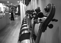 Our cellos exhibition in Luthier Vidal store. Cellos, Store, Cello, Larger, Shop