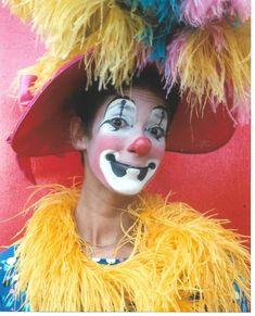 Female Clown, Vintage Clown, Clowning Around, Clowns, Carnival, Halloween Face Makeup, Painting, Art, Makeup