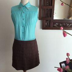 Two Toned Drop Waist Shirt Dress on Carousell