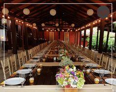 Mucho color para una mesa muuuy larga!   Mesa Imperial boda