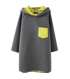 Casual Color Contrast Long Sleeve Rabbit Ears Hat Sweatshirt For Women can cover your body well, make you more sexy, Newchic offer cheap plus size fashion tops for women. Cheap Plus Size Clothing, Fashion Pattern, Sweatshirts Online, Hoodies, Ear Hats, Cute Woman, Grey Hoodie, Outerwear Women, Rabbit Ears