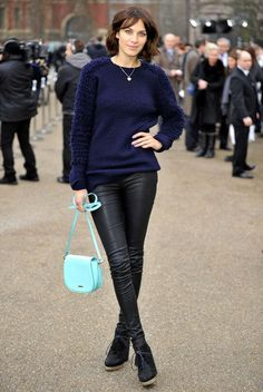 Alexa Chung Photo - Arrivals for Burberry Prorsum show
