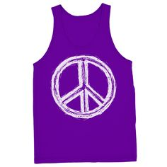 Relaxed Fit Peace Sign Tank