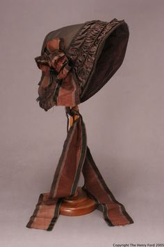 Drawn Bonnet, 1848-1859, via The Henry Ford Historic Costume Collection.