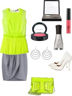 """Pop of Green"" by purplepirate-1 on Polyvore"